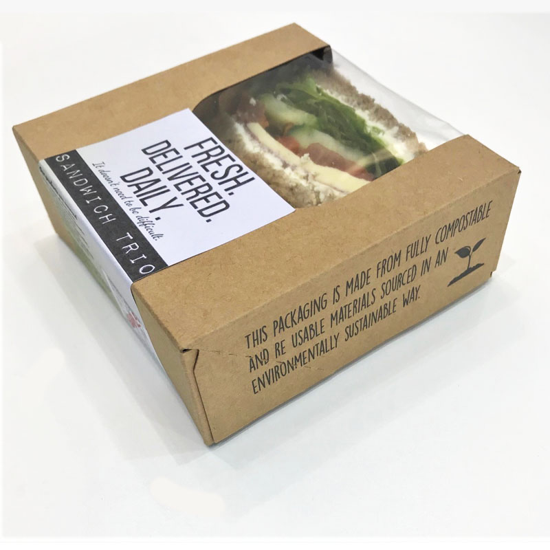 sandwich trio in compostable outer box